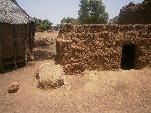 Chicken and goat pens in rural Burkina Faso, West Africa
