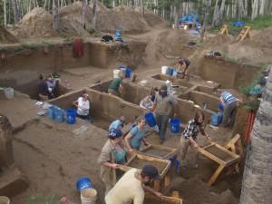 The Upward Sun River archaeological site in Alaska.