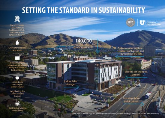 Setting the standard in sustainability info graphic.