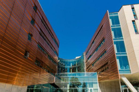 Exterior of Lassonde Studios at the University of Utah.