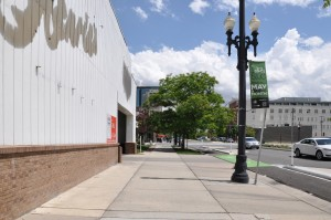 Low quality streetscape in Salt Lake City (218 W. 300 South)