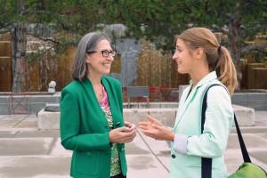 Dr. Marilyn Luptak and social work Ph.D. student Kara Byrne.