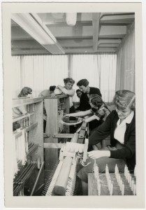 In the 1950s, Sterling W. Sill Family Home Living Center student residents learned skills such as weaving, reupholstering and preserving fruits and vegetables.