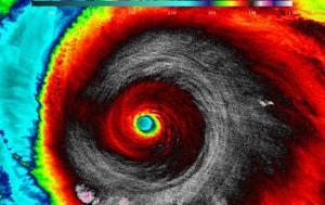 A view of Hurricane Patricia from NASA-NOAA's Suomi NPP satellite on Oct. 23.