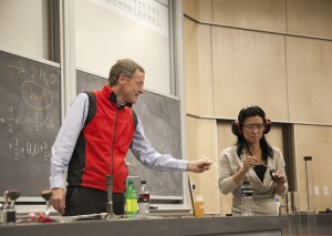 A live demonstration during University of Utah's 2014 Science Day.