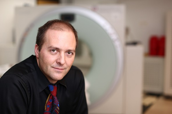 Jeffrey Anderson, M.D., Ph.D., associate professor of neuroradiology at the University of Utah School of Medicine, is senior author of a study investigating differences in the brains of adolescent boys who are compulsive video game players