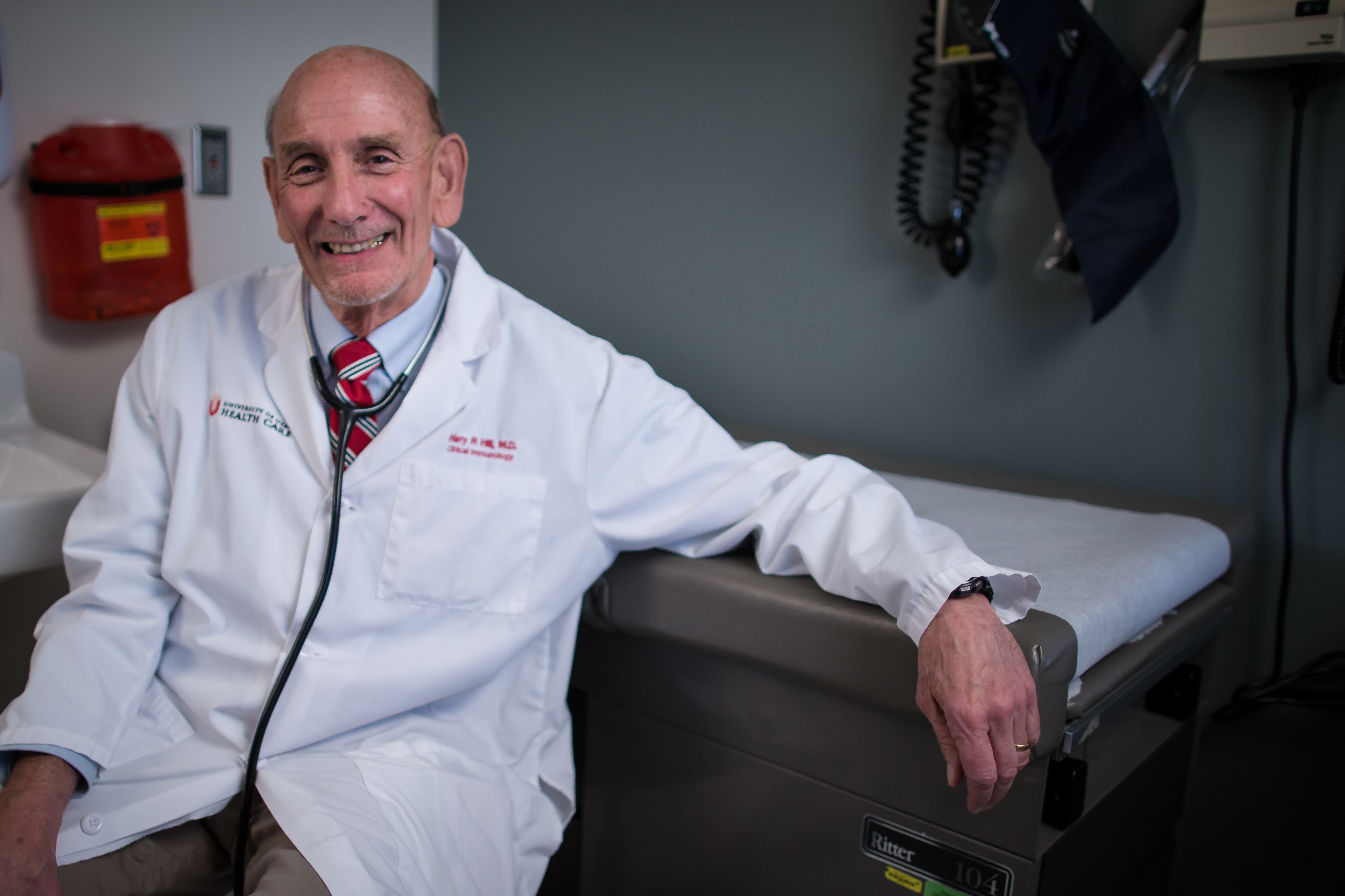 Harry Hill, M.D., immunologist and professor of pathology, pediatrics, and medicine at the University of Utah School of Medicine.