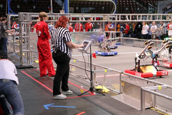 A scene from the 2014 Utah Regional FIRST Robotics Competition. The 2016 event is March 18-19 at the Maverik Center in West Valley City, Utah.