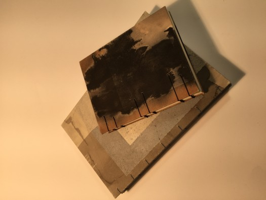 A sample of the use of ink in the book arts workshops