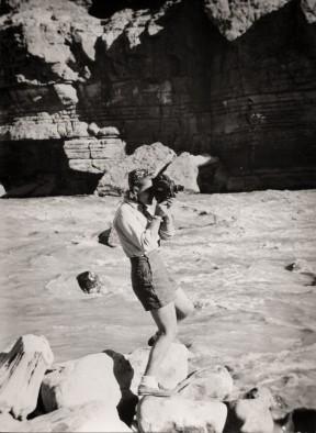 Genevieve de Colmont, one of the three Parisian explorers, shoots some river scenes.