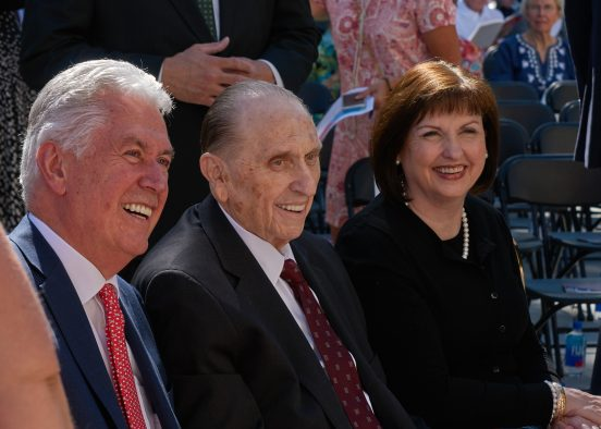 The building was renamed the Thomas S. Monson Center after the current president of The Church of Jesus Christ of Latter-day Saints. Monson is a distinguished alumnus of the U's David Eccles School of Business, a past faculty member and an honorary doctorate recipient.