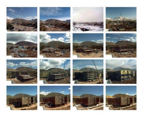Time lapse of construction of Lassonde Studios at the University of Utah.