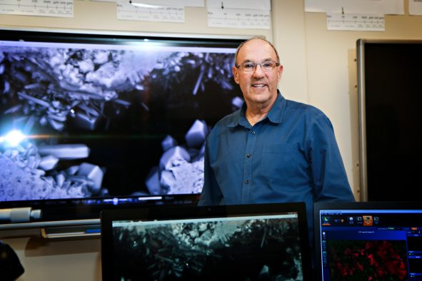 Joseph Moore from the University of Utah's Energy & Geoscience Institute leads a team that was one of two research groups selected by he U.S. Department of Energy to establish a multi-million-dollar geothermal field laboratory. Their proposed site is near Milford, Utah, and would be used to conduct research into geothermal technologies.